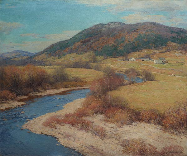 Indian Summer, Vermont, 1922 | Willard Metcalf | Painting Reproduction