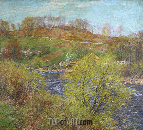 Blossoming Willows, c.1920 | Willard Metcalf | Painting Reproduction