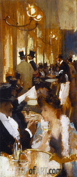 In the Coffee, 1888 | Willard Metcalf | Painting Reproduction