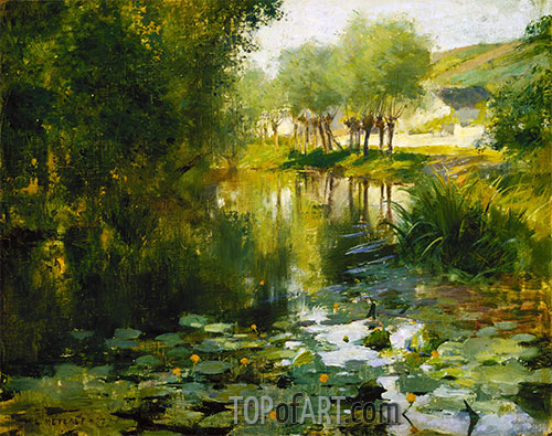The Lily Pond, 1887 | Willard Metcalf | Painting Reproduction