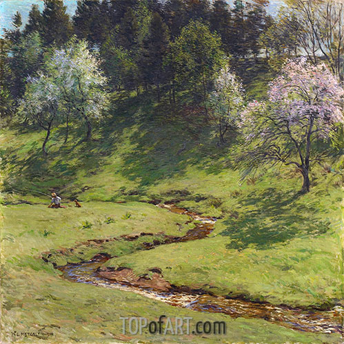 Blütenzeit, 1910 | Willard Metcalf | Gemälde Reproduktion