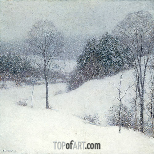 The White Veil, 1909 | Willard Metcalf | Painting Reproduction