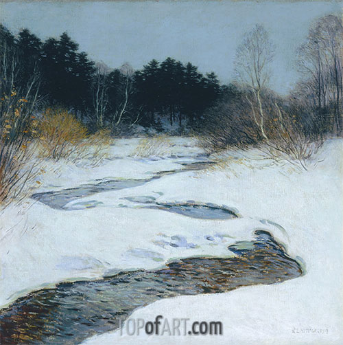 Thawing Brook, 1917 | Willard Metcalf | Painting Reproduction