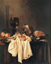 Still-Life, 1651 by Claesz Heda | Painting Reproduction