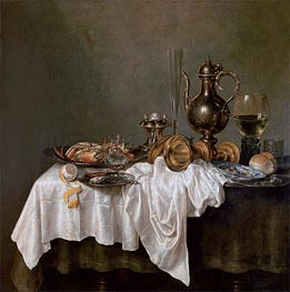 Breakfast with a Crab | Claesz Heda | Painting Reproduction