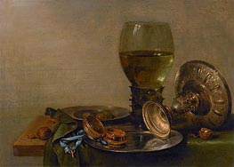 Still Life with Roemer and Silver Tazza | Claesz Heda | Painting Reproduction