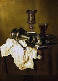 Still Life, 1642 by Claesz Heda | Painting Reproduction