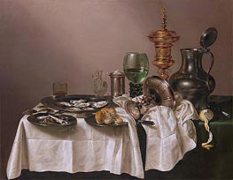 Still Life with gilt Goblet, 1635 by Claesz Heda | Painting Reproduction