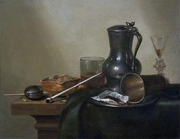 Tobacco Still Life | Claesz Heda | Painting Reproduction