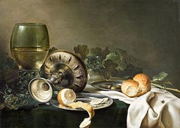 Still Life with Fly, undated von Claesz Heda | Gemälde-Reproduktion