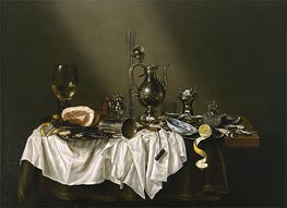 Banquet Piece with Ham | Claesz Heda | Painting Reproduction