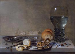 Still Life of a Roemer and a Facon de Venise, 1630 von Claesz Heda | Gemälde-Reproduktion