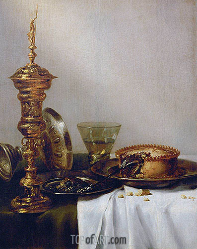 Breakfast Still Life with Chalice, 1634 | Claesz Heda | Painting Reproduction