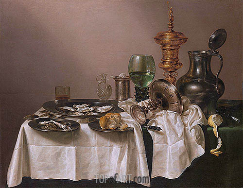 Still Life with gilt Goblet, 1635 | Claesz Heda | Painting Reproduction