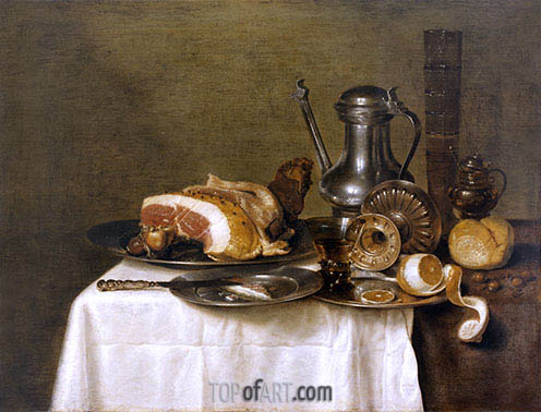 Still Life with Ham, 1649 | Claesz Heda | Gemälde Reproduktion