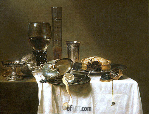 Still Life with Nautilus Cup, 1641 | Claesz Heda | Painting Reproduction