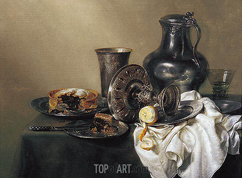 Still Life with Meat Pie, 1633 | Claesz Heda | Painting Reproduction