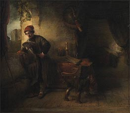 The Student (Standing Young Man at the Window in his Study Reading), a.1653 by Willem Drost | Painting Reproduction