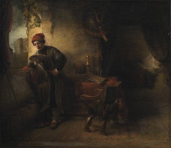 The Student (Standing Young Man at the Window in his Study Reading), a.1653 | Willem Drost | Painting Reproduction