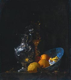 Still Life with Silver Jug, c.1655/57 von Willem Kalf | Gemälde-Reproduktion