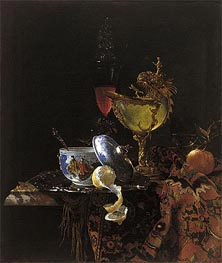 Still Life with Nautilus Cup, 1662 von Willem Kalf | Gemälde-Reproduktion