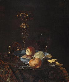 Still Life with Columbine Goblet, c.1660 von Willem Kalf | Gemälde-Reproduktion
