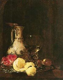 Still Life with Delft Jug, 1653 von Willem Kalf | Gemälde-Reproduktion