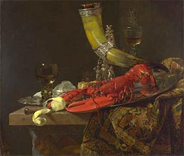 Still Life with Drinking Horn, c.1653 von Willem Kalf | Gemälde-Reproduktion