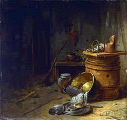 Kitchen, c.1642 by Willem Kalf | Painting Reproduction