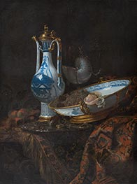 Still Life with Ewer and Basin, Fruit and Nautilus Cup | Willem Kalf | Painting Reproduction