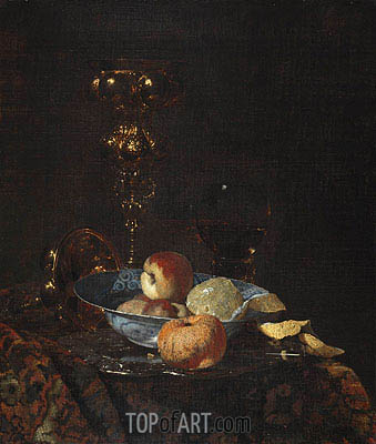 Still Life with Columbine Goblet, c.1660 | Willem Kalf | Gemälde Reproduktion