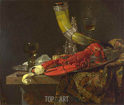 Still Life with Drinking Horn, c.1653 | Willem Kalf | Gemälde Reproduktion