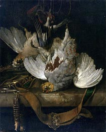 The Bag, 1679 by Willem van Aelst | Painting Reproduction