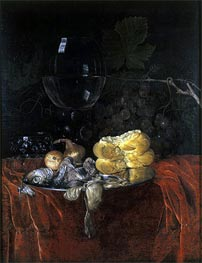Still Life with Herring, undated by Willem van Aelst | Painting Reproduction