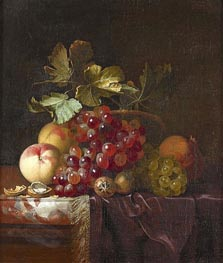 Fruit Still Life, 1661 by Willem van Aelst | Painting Reproduction