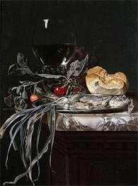 Still Life with Fish Platter | Willem van Aelst | Gemälde Reproduktion