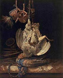 Hunting Still Life with a Dead Bird | Willem van Aelst | Painting Reproduction