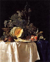 Still Life with Fruit and Crystal Vase | Willem van Aelst | Painting Reproduction