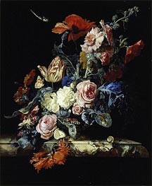 A Vase of Flowers, 1663 by Willem van Aelst | Painting Reproduction