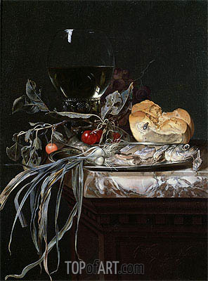 Still Life with Fish Platter, Undated | Willem van Aelst | Painting Reproduction