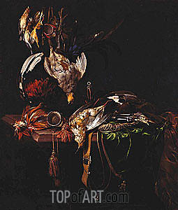 Dead Game with Trophies of the Chase, c.1657/59 | Willem van Aelst | Painting Reproduction