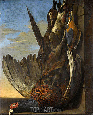 Still Life Of Game with A Pheasant, 1654 | Willem van Aelst | Painting Reproduction