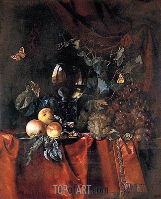 Fruit and a Glass of Wine, 1659 | Willem van Aelst | Painting Reproduction
