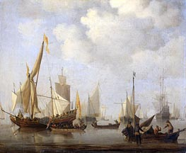 Calm Sea | Willem van de Velde | Painting Reproduction
