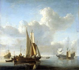 Ships at the Coast | Willem van de Velde | Gemälde Reproduktion