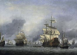 The Conquest of the English Ship 'Royal Prince' 13 June 1666 | Willem van de Velde | Painting Reproduction
