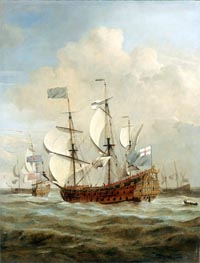 The 'St Andrew' at Sea in a Moderate Breeze, c.1673 by Willem van de Velde | Painting Reproduction