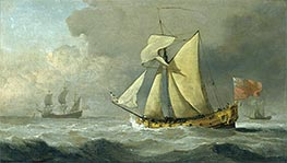 The Cleveland Yacht at Sea in a Fresh Breeze | Willem van de Velde | Painting Reproduction