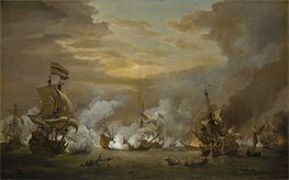 The Battle of the Texel, 11-21 August 1673, c.1680 by Willem van de Velde | Painting Reproduction