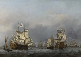 The Surrender of the Royal Prince | Willem van de Velde | Painting Reproduction